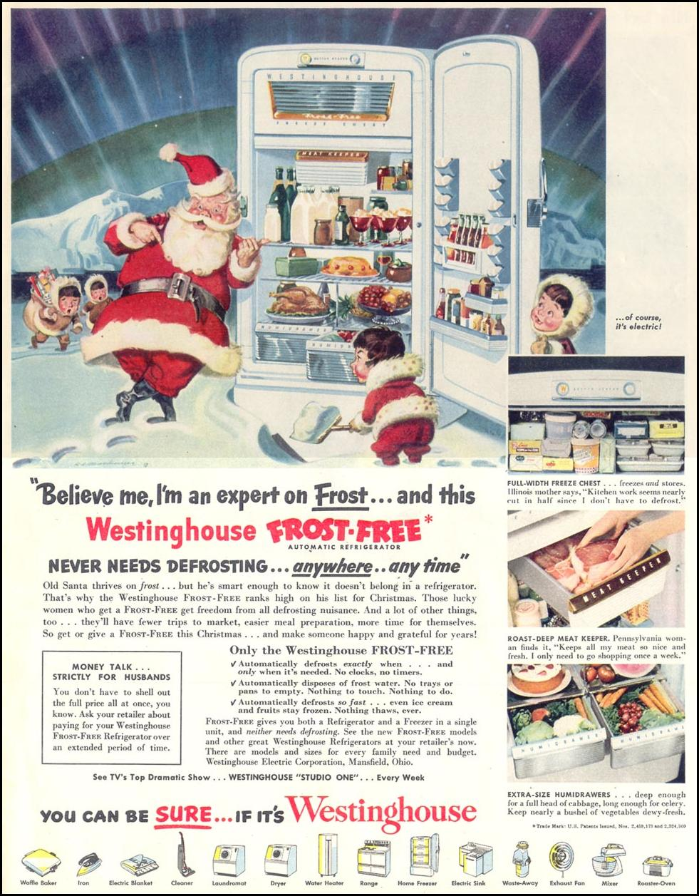 WESTINGHOUSE FROST-FREE REFRIGERATORS LOOK 12/04/1951 p. 7