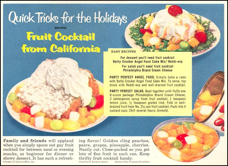 CALIFORNIA FRUIT COCKTAIL WOMAN'S DAY 12/01/1954 p. 72