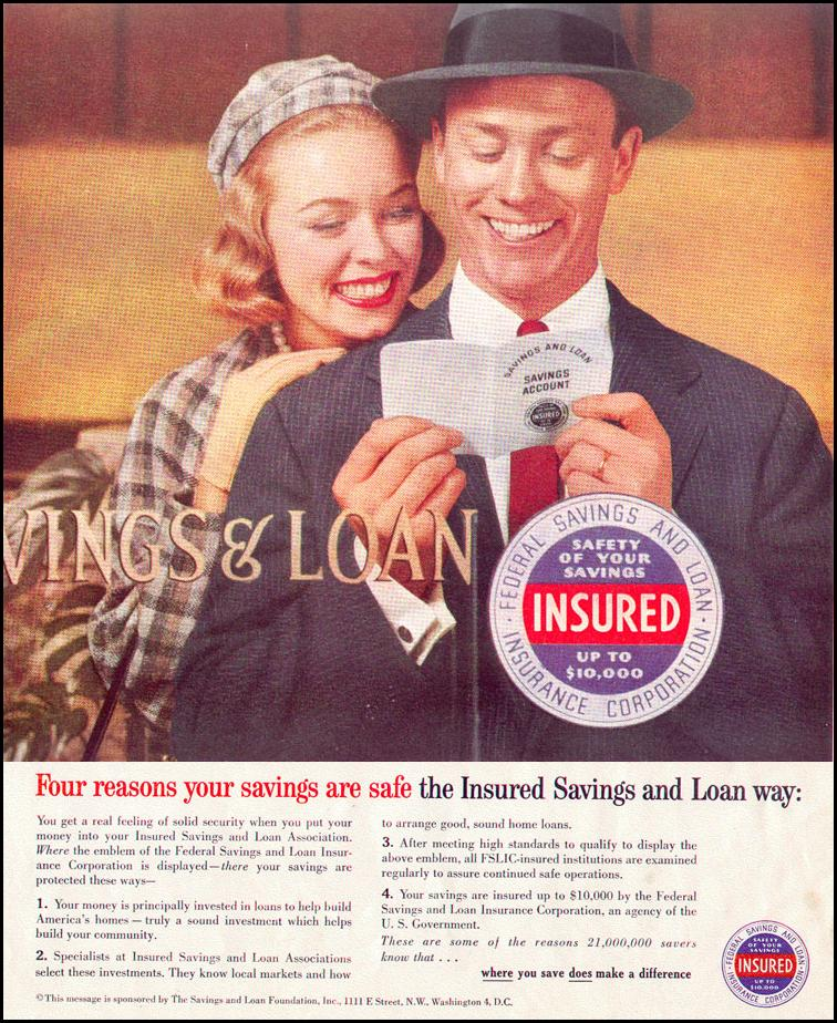 SAVINGS AND LOAN LOOK 09/16/1958 INSIDE FRONT