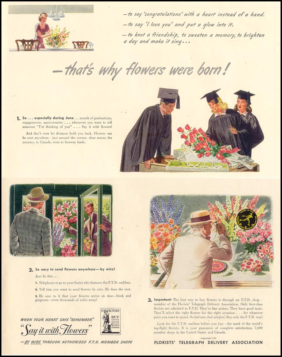FLOWERS BY WIRE LIFE 06/01/1942
