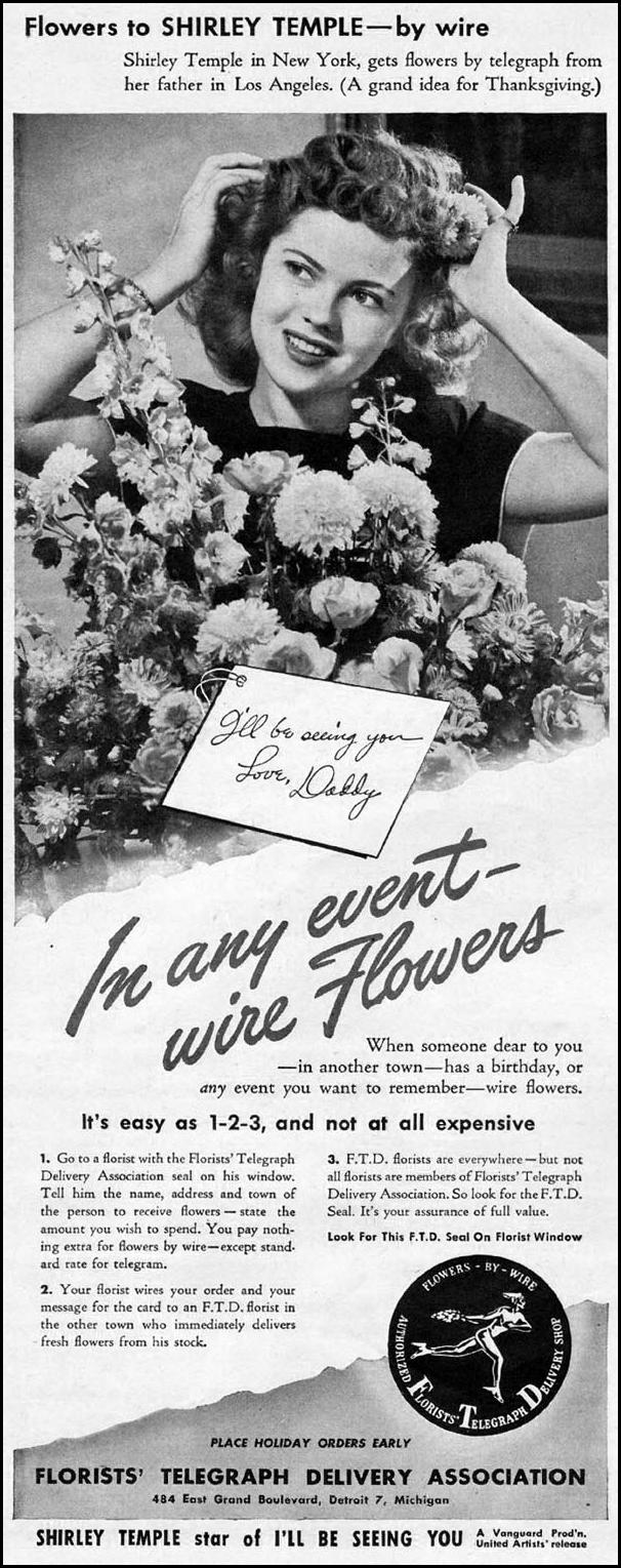 FLOWERS BY WIRE LIFE 11/13/1944 p. 4