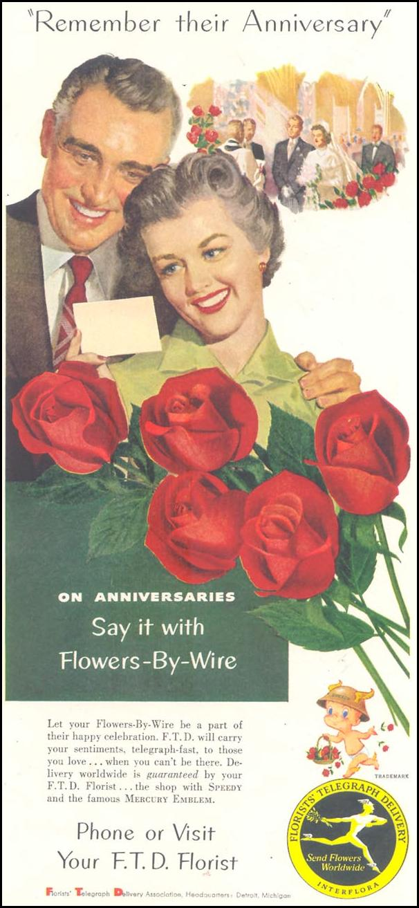 FTD FLOWERS-BY-WIRE SATURDAY EVENING POST 06/04/1955 p. 83