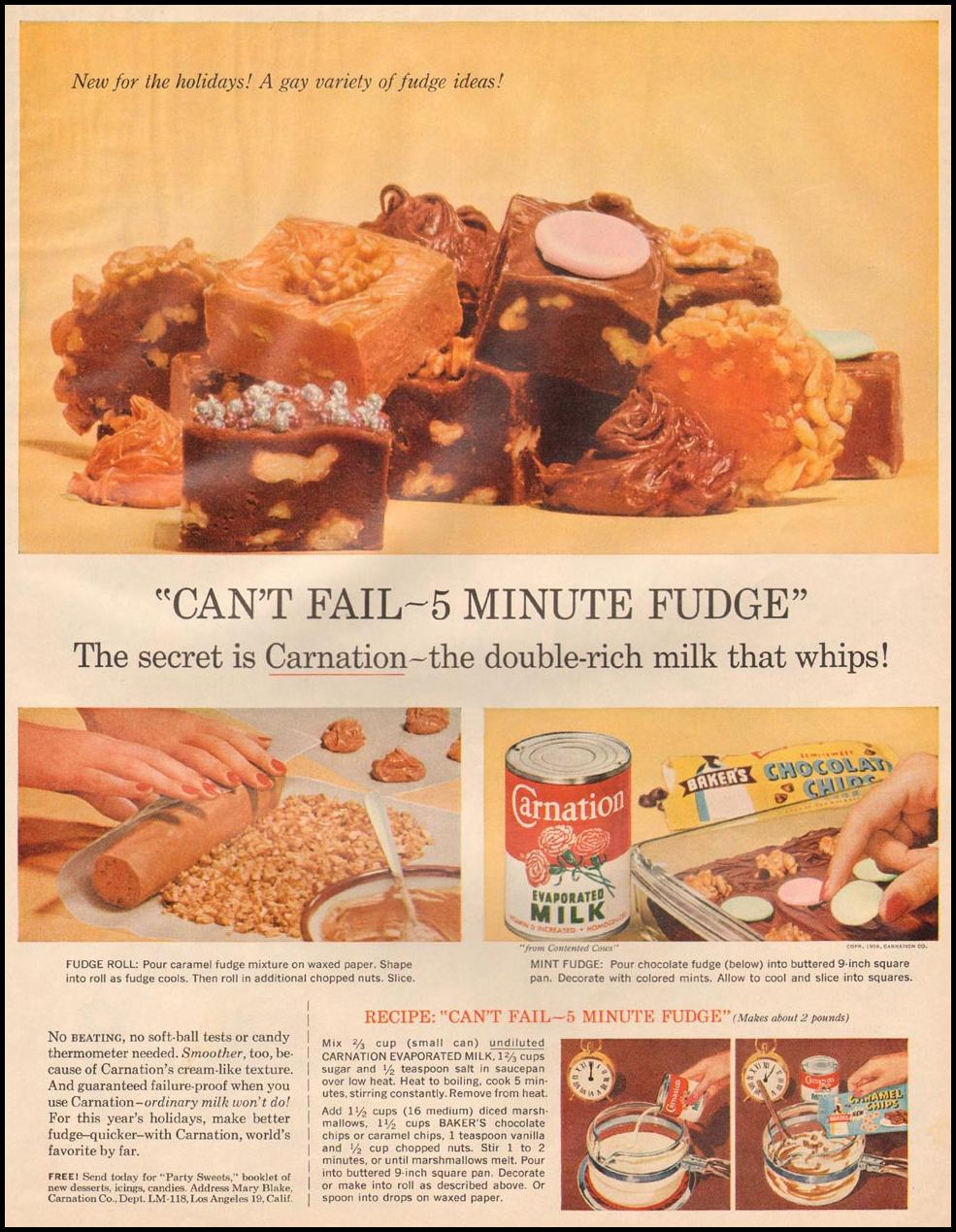 CARNATION EVAPORATED MILK LIFE 11/24/1958