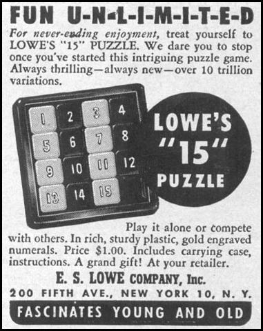 LOWE'S PUZZLES LIFE 04/17/1950 p. 28