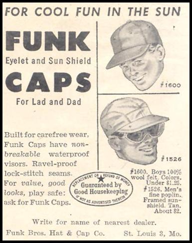FUNK CAPS GOOD HOUSEKEEPING 07/01/1949 p. 173