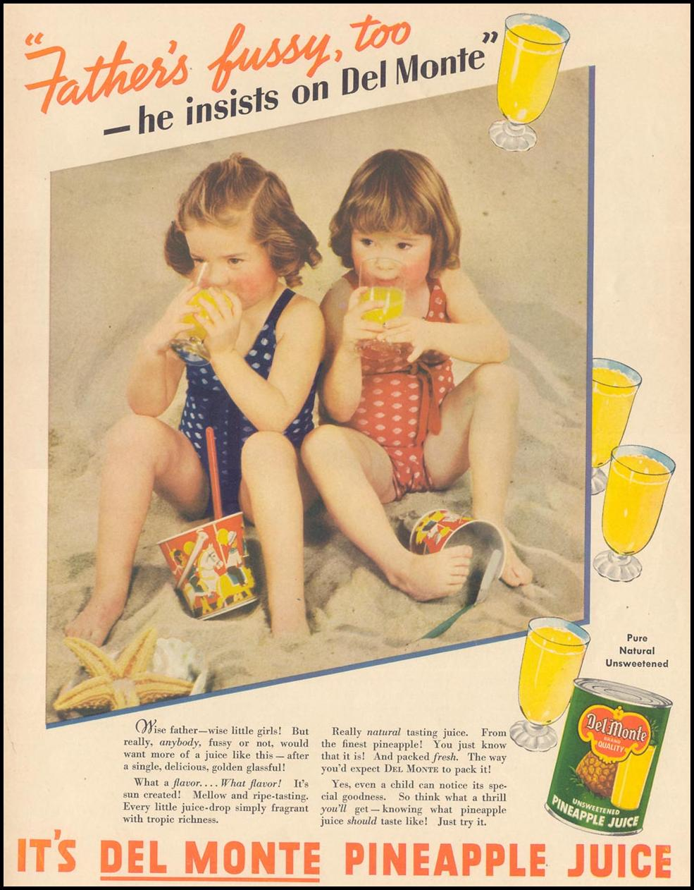 DEL MONTE PINEAPPLE JUICE LIFE 09/13/1937