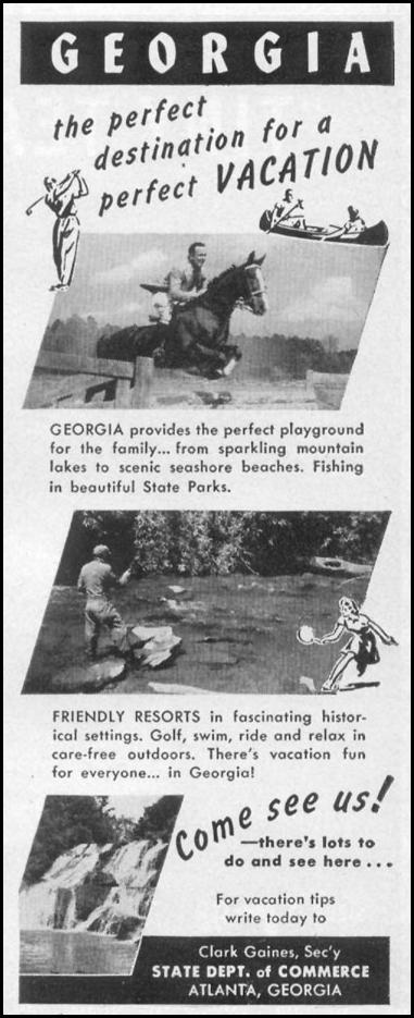 VACATIONING IN GEORGIA LIFE 06/05/1950 p. 108