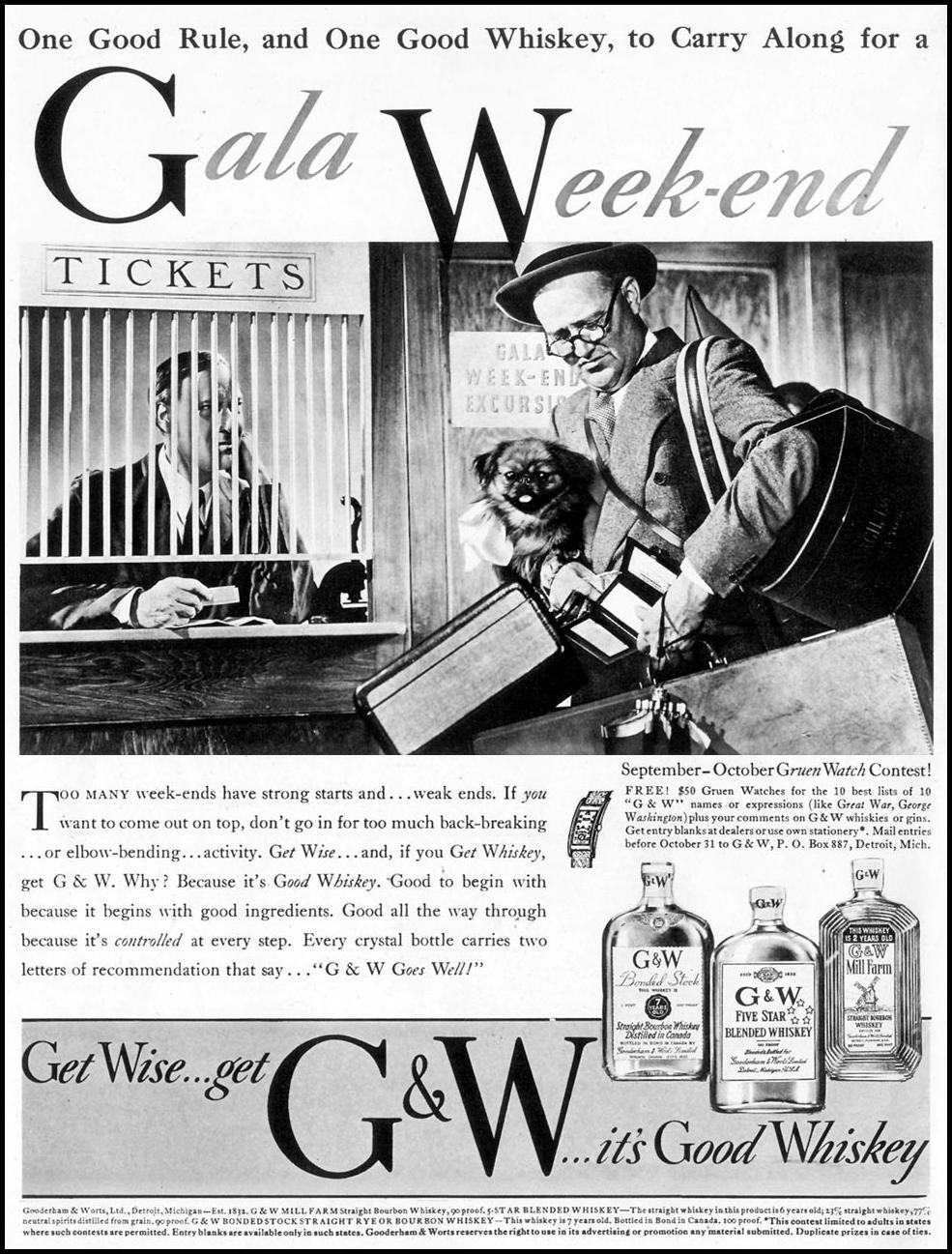 G & W WHISKEY LIFE 09/20/1937 p. 124