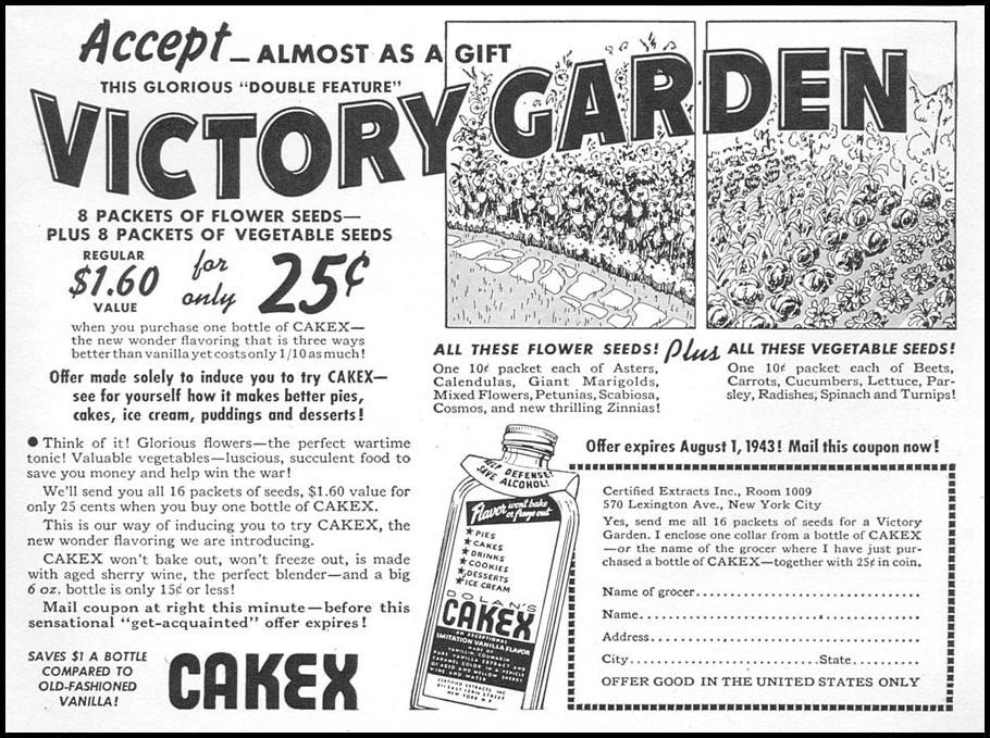 DOLAN'S CAKEX VANILLA WOMAN'S DAY 04/01/1943 p. 69