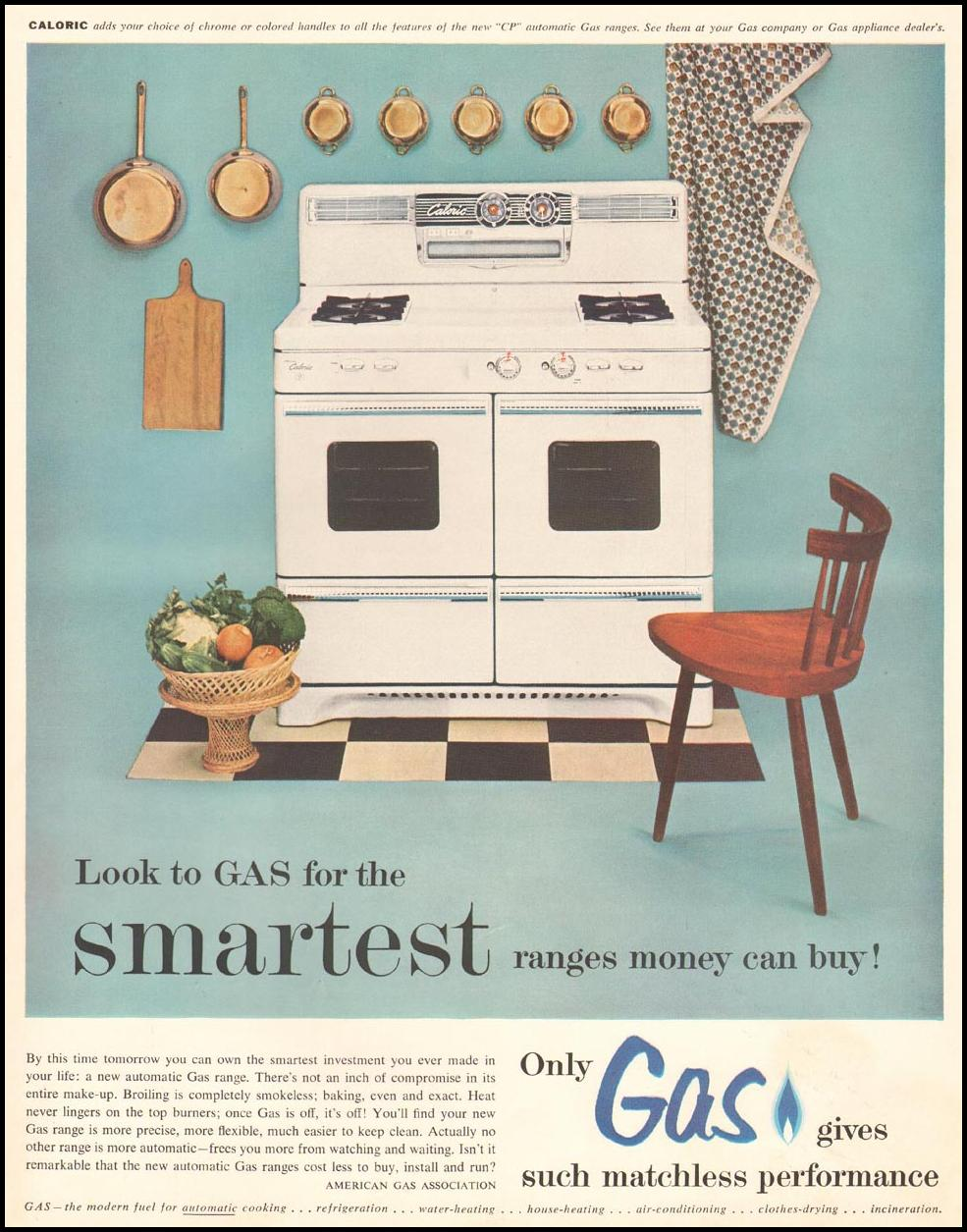 GAS RANGES LADIES' HOME JOURNAL 03/01/1954 INSIDE BACK