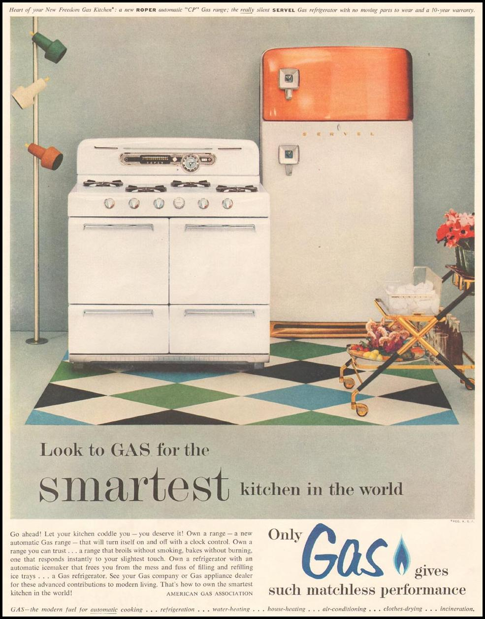 GAS KITCHEN APPLIANCES LADIES' HOME JOURNAL 07/01/1954 p. 2