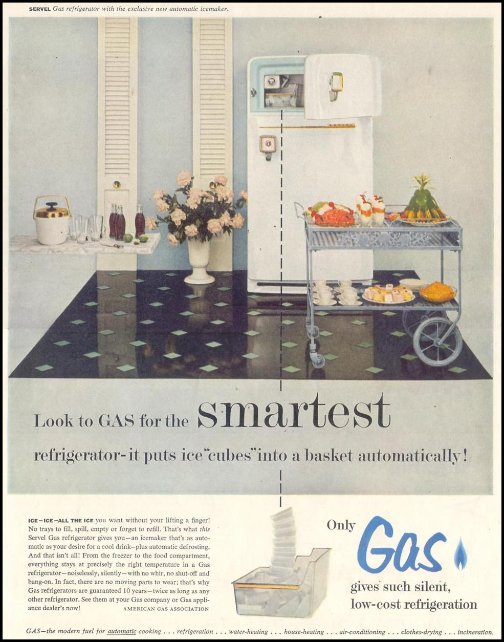 GAS REFRIGERATOR SATURDAY EVENING POST 07/23/1955 p. 7