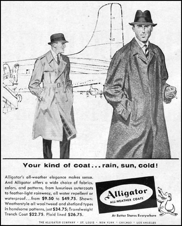 ALLIGATOR ALL-WEATHER COATS LIFE 04/01/1957 p. 134