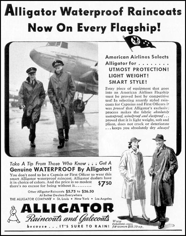 ALLIGATOR RAINCOATS AND GALECOATS LIFE 09/16/1940 p. 80