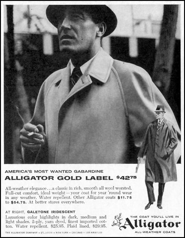 ALLIGATOR ALL-WEATHER COATS SATURDAY EVENING POST 05/02/1959 p. 105