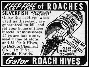 GATOR ROACH HIVES WOMAN'S HOME COMPANION 12/01/1952 p. 96