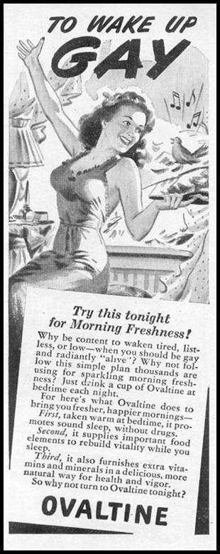 OVALTINE WOMAN'S DAY 11/01/1945 p. 117