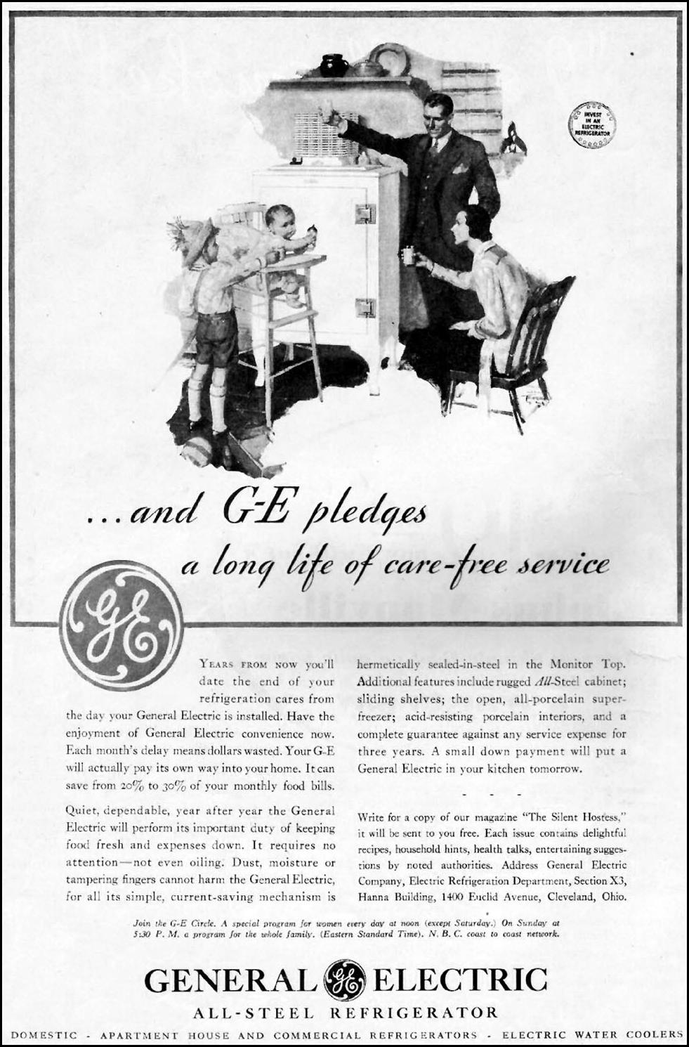 GENERAL ELECTRIC REFRIGERATORS BETTER HOMES AND GARDENS 03/01/1932 p. 6