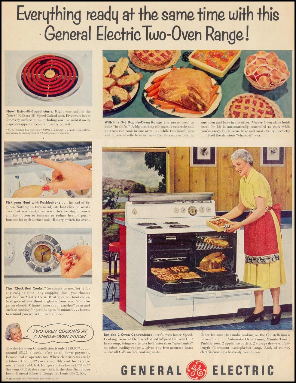 GENERAL ELECTRIC TWO-OVEN RANGE LIFE 09/07/1953 p. 112