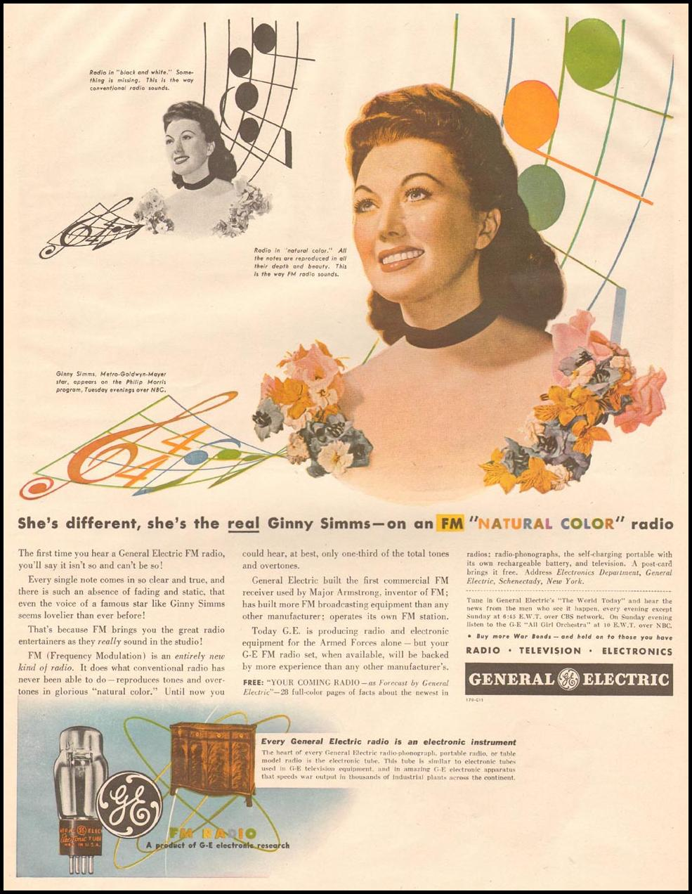GENERAL ELECTRIC NATURAL COLOR RADIO LIFE 10/23/1944 p. 17