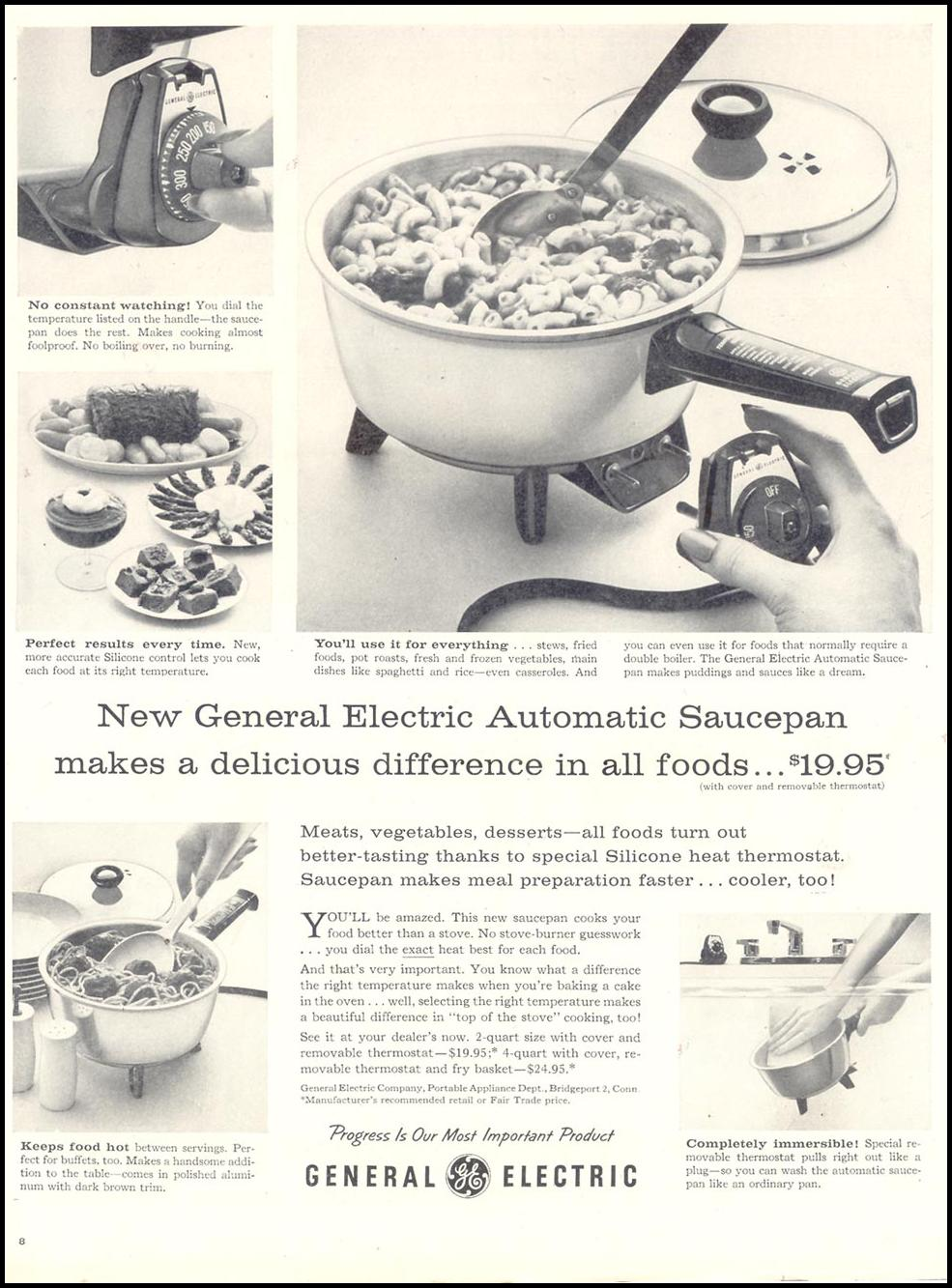 GENERAL ELECTRIC AUTOMATIC SAUCEPAN LIFE 11/11/1957 p. 8