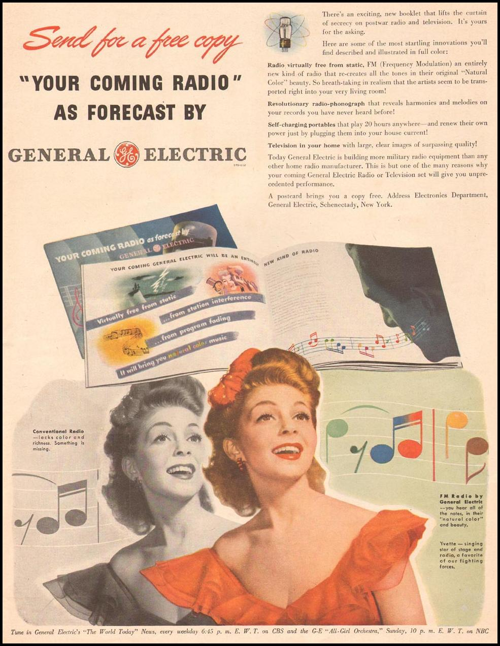 GENERAL ELECTRIC RADIOS LIFE 11/13/1944 p. 15