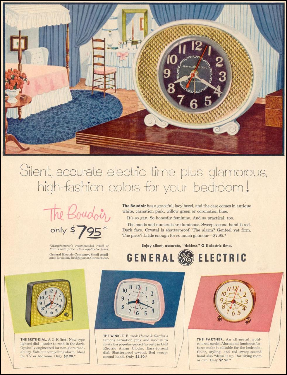GENERAL ELECTRIC CLOCKS LIFE 11/30/1953 p. 9