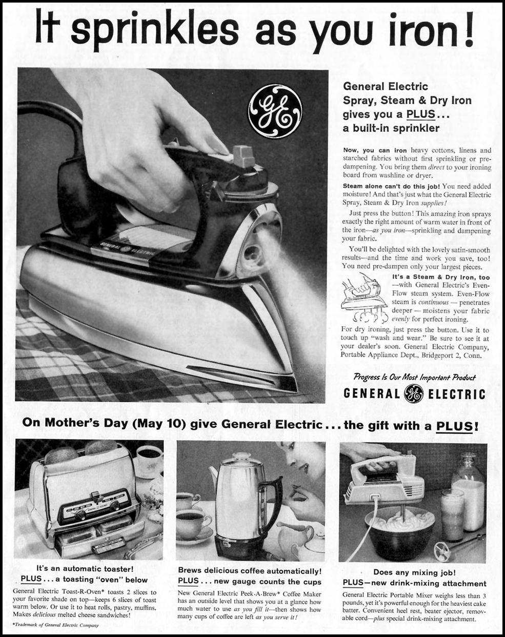 G. E. SPRAY, STEAM & DRY IRON SATURDAY EVENING POST 05/02/1959 p. 75