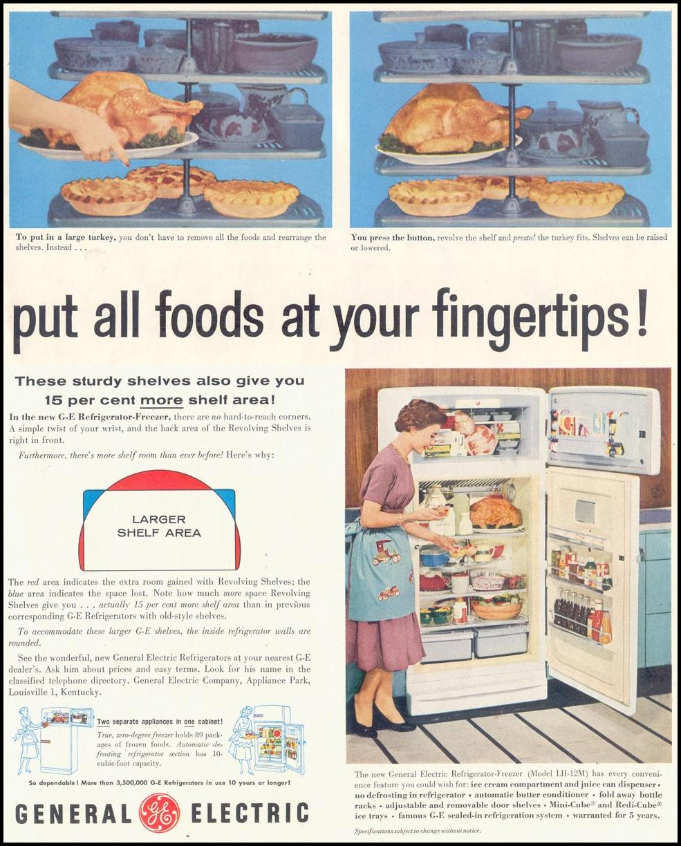 GENERAL ELECTRIC REFRIGERATORS SATURDAY EVENING POST 06/04/1955