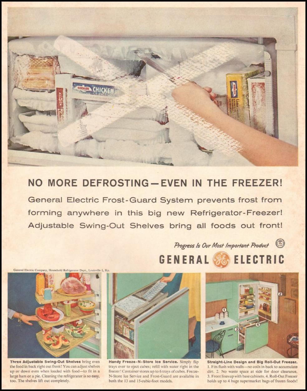 GENERAL ELECTRIC REFRIGERATORS SATURDAY EVENING POST 06/11/1960 INSIDE FRONT