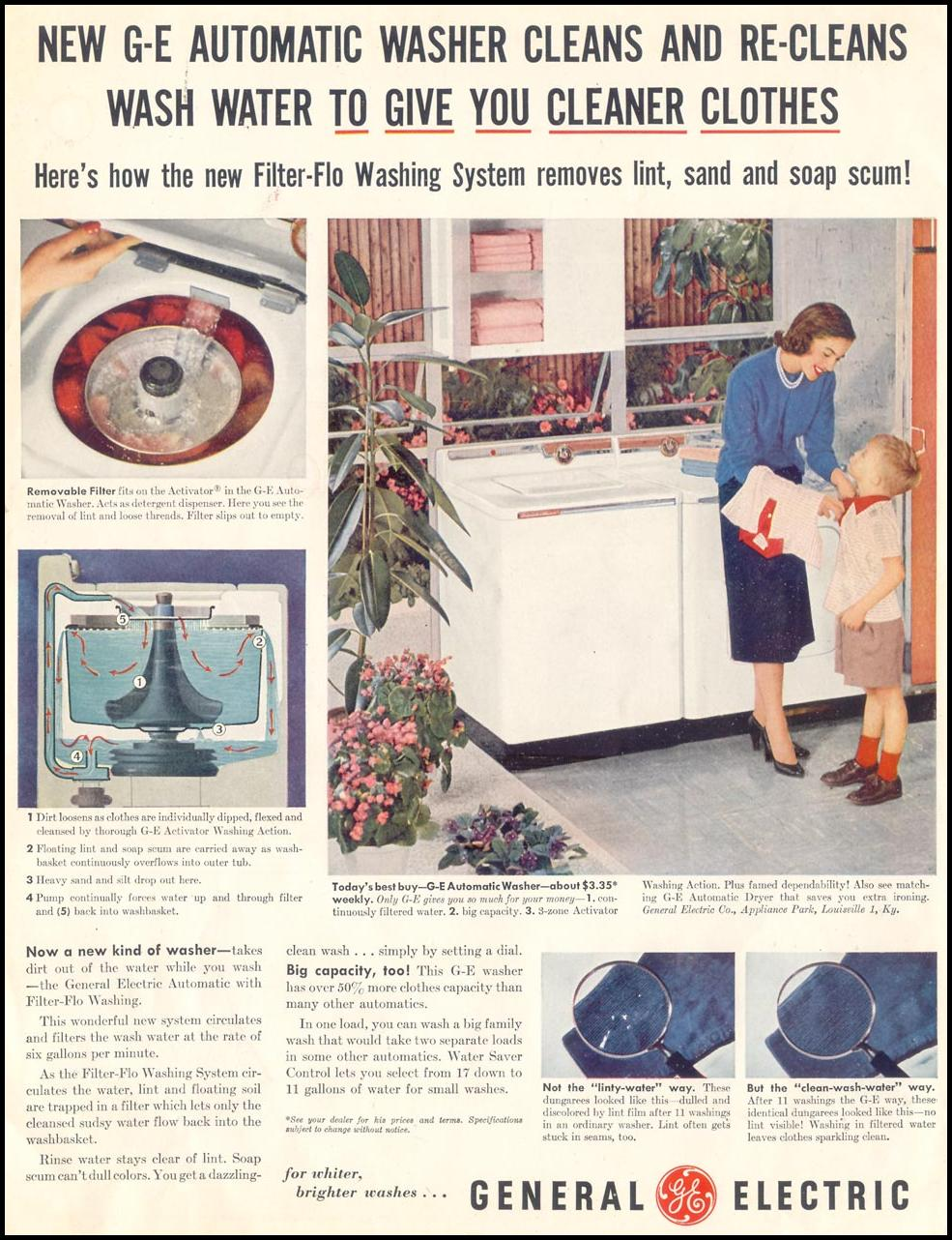 GENERAL ELECTRIC FILTER-FLO WASHING MACHINES