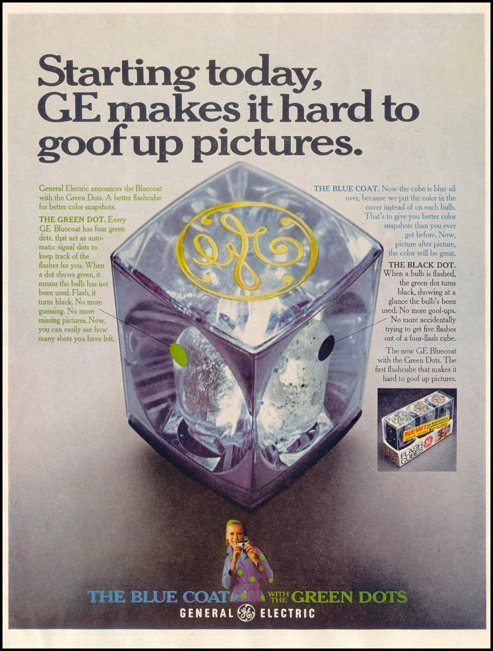 GENERAL ELECTRIC FLASH CUBES SATURDAY EVENING POST 12/28/1968 p. 2