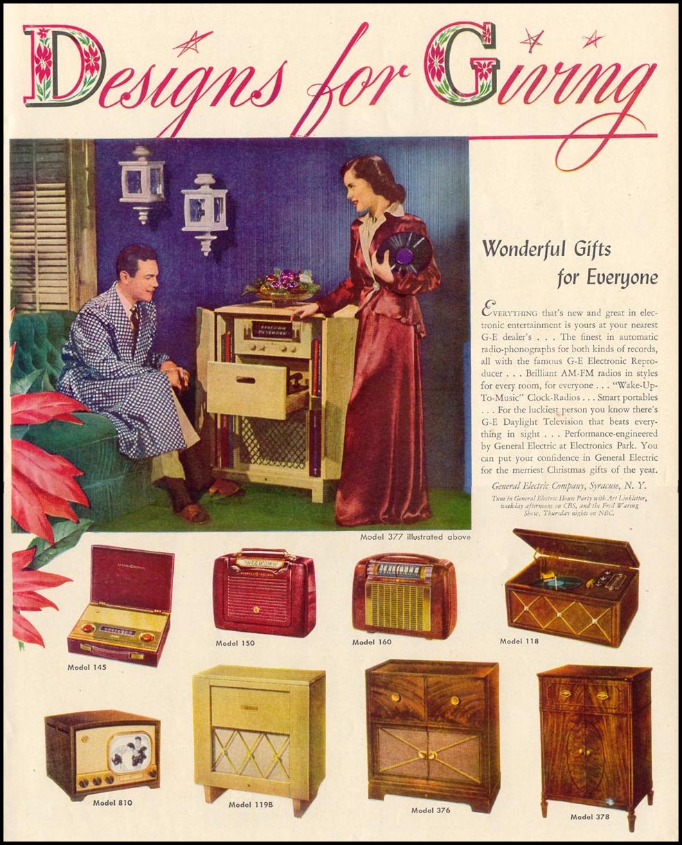GENERAL ELECTRIC RADIOS AND TELEVISIONS LIFE 11/15/1948