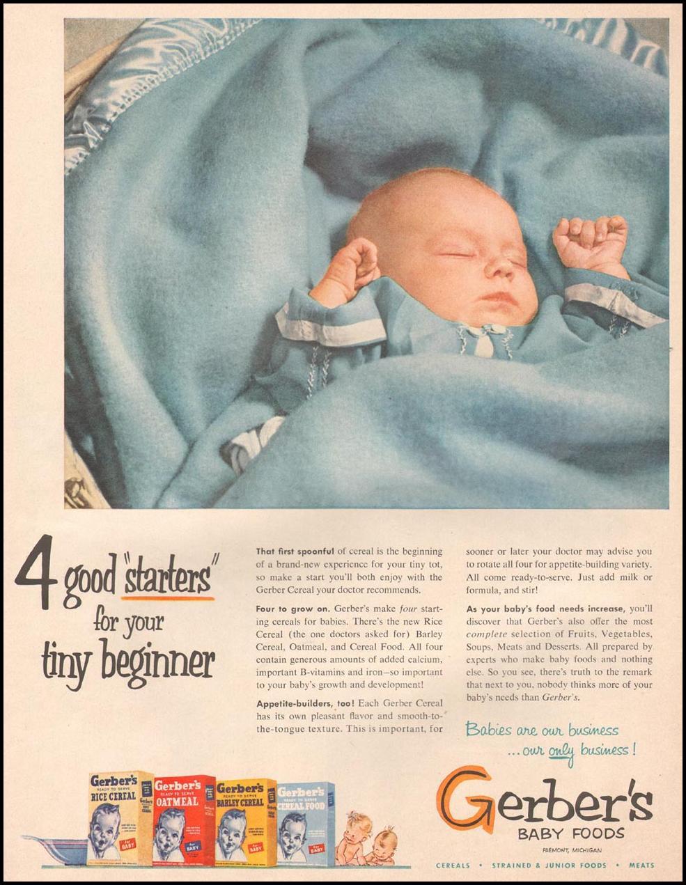 GERBER BABY FOODS LIFE 10/01/1951