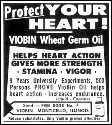 VIOBIN WHEAT GERM OIL SATURDAY EVENING POST 05/02/1959 p. 112