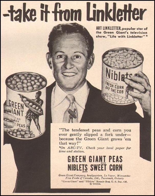 GREEN GIANT CANNED VEGETABLES LIFE 10/01/1951 p. 119