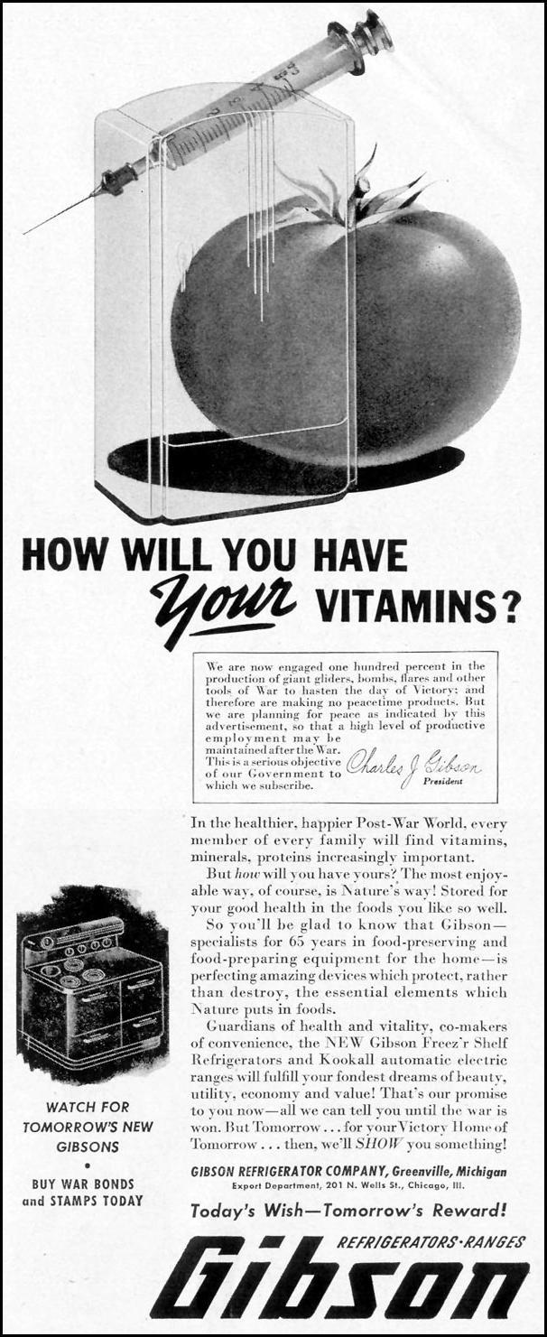GIBSON REFRIGERATORS LIFE 11/08/1943 p. 23
