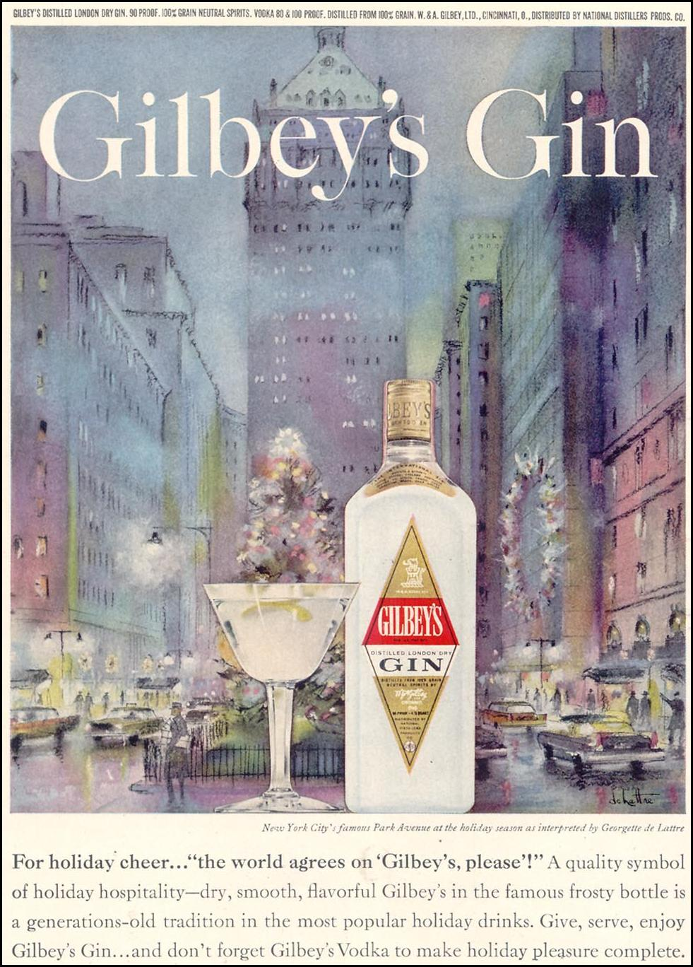 GILBEY'S GIN TIME 12/07/1962 p. 70
