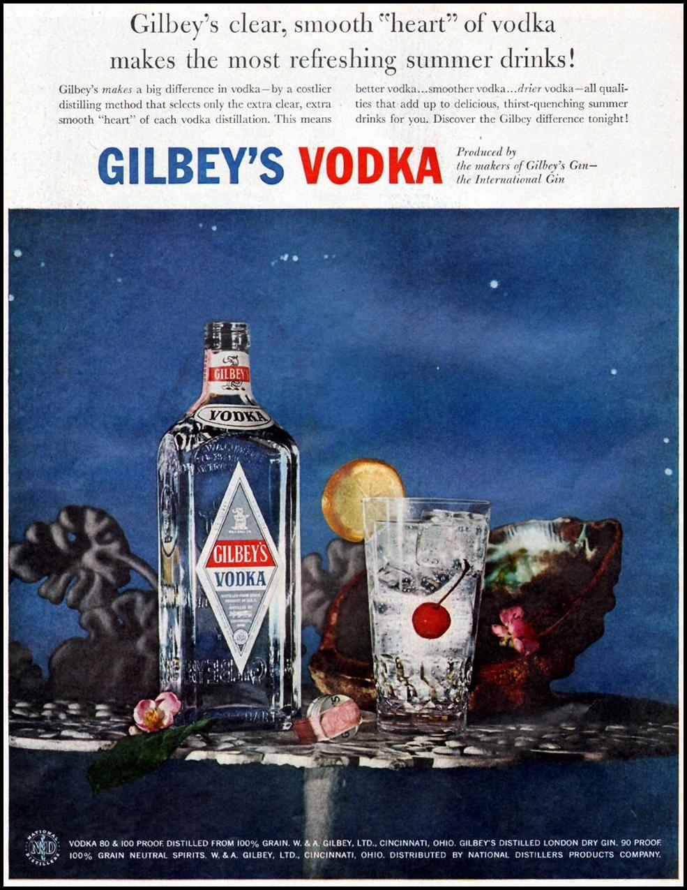 GILBEY'S VODKA LIFE 07/01/1957
