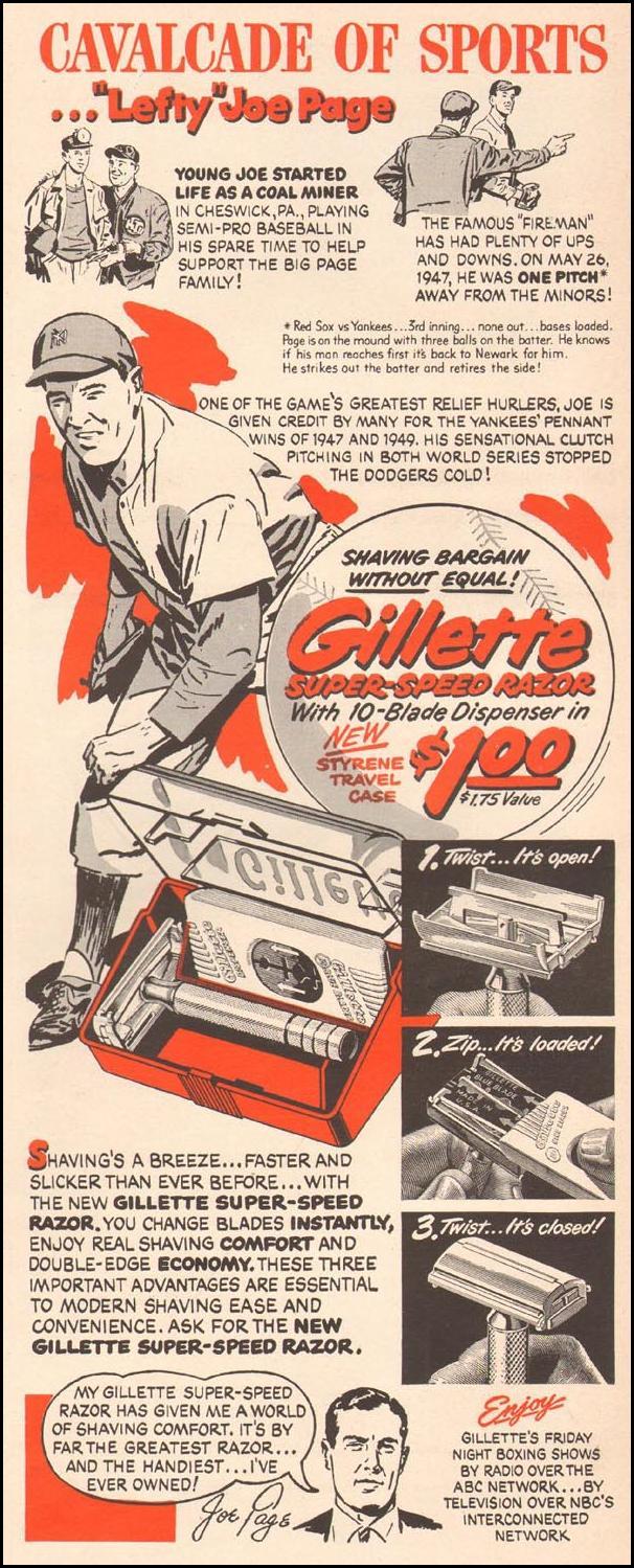 GILLETTE RAZOR BLADES LIFE 04/17/1950 p. 95