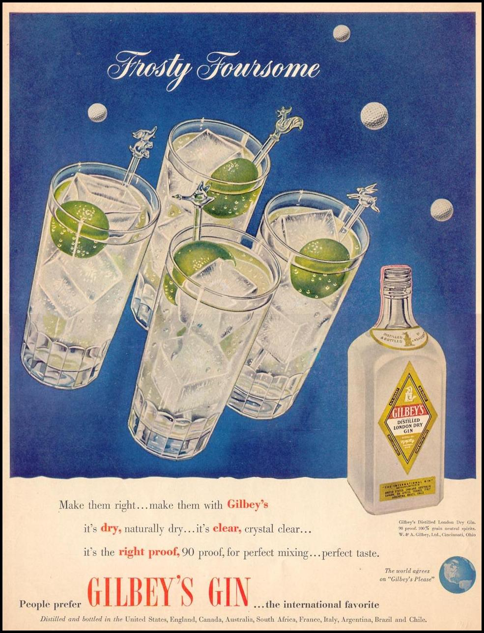 GILBEY'S GIN LIFE 07/30/1951 p. 50