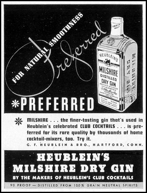 HEUBLEIN'S MILSHIRE DRY GIN LIFE 09/20/1937 p. 104