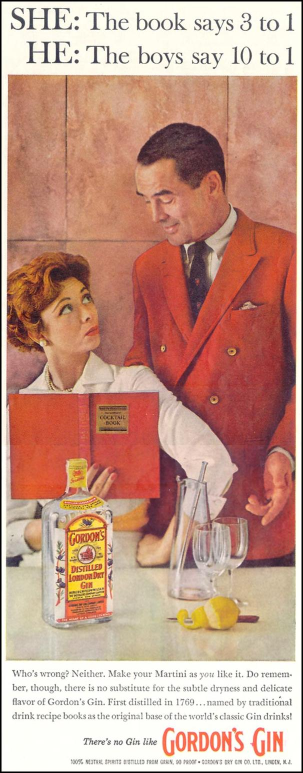 GORDON'S DISTILLED LONDON DRY GIN SATURDAY EVENING POST 08/15/1959 p. 79