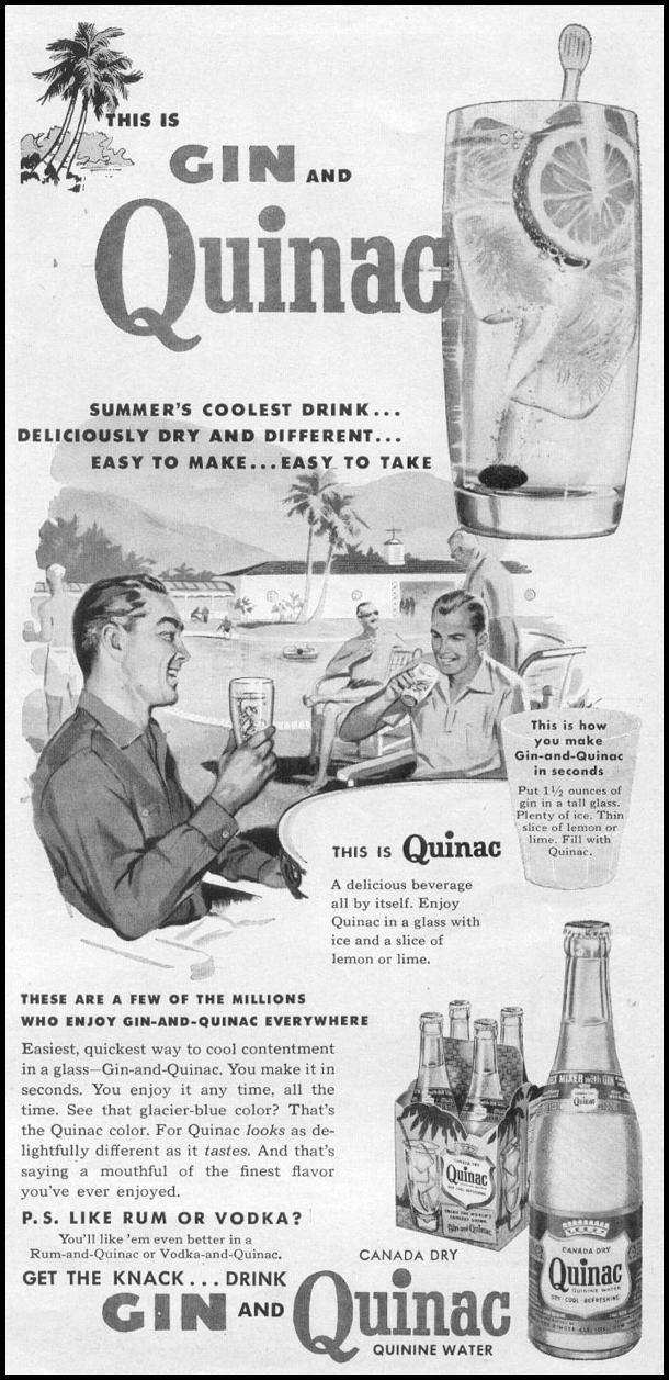 QUINAC QUININE WATER TIME 08/17/1953 p. 35