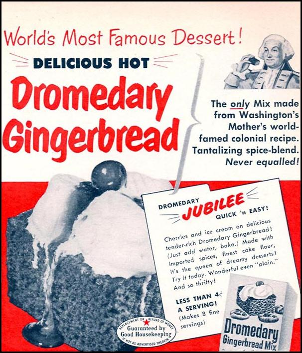 DROMEDARY GINGERBREAD MIX WOMAN'S DAY 02/01/1954 p. 169