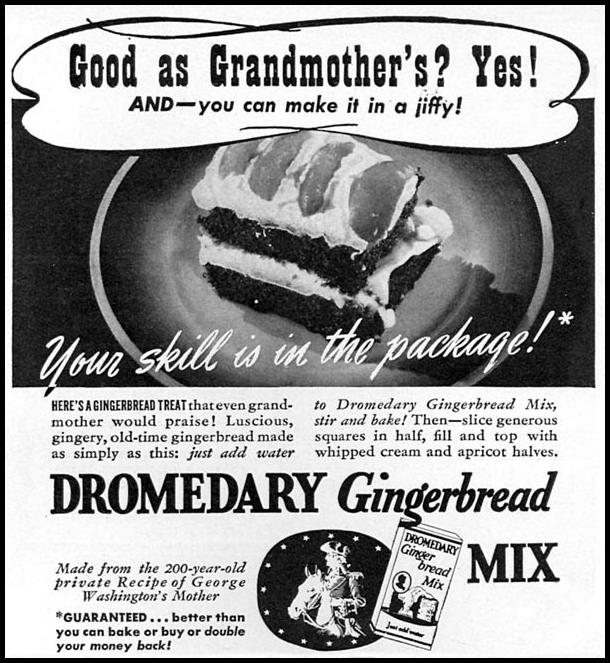 DROMEDARY GINGERBREAD MIX WOMAN'S DAY 05/01/1940 p. 45