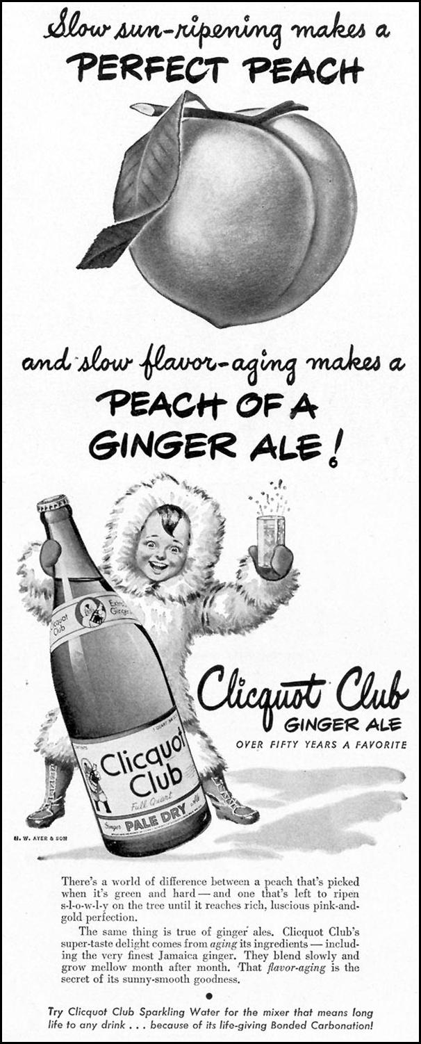 CLICQUOT CLUB GINGER ALE LIFE 02/21/1944 p. 47