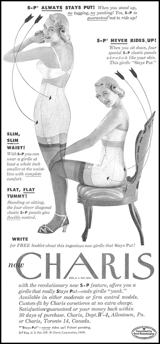 CHARIS S-P GIRDLE WOMAN'S DAY 10/01/1949 p. 105