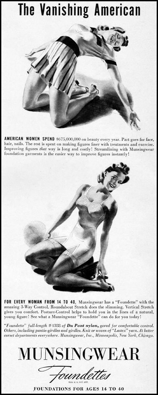 MUNSINGWEAR FOUNDETTES LIFE 04/28/1941 p. 85