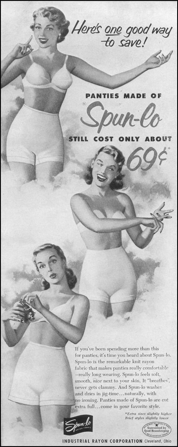 SPUN-LO RAYON FABRIC LIFE 10/13/1952 p. 22
